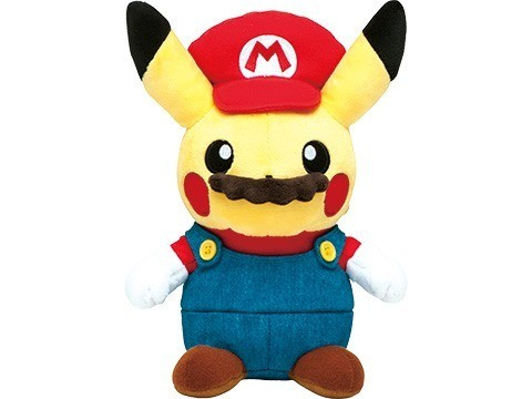 The Pokemon Company unveiled new Pikachu stuffed animals dressed as Mario