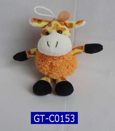 Mini Giraffe Plush Keychain Toys