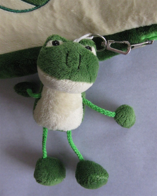 Soft Plush Frog Keychain