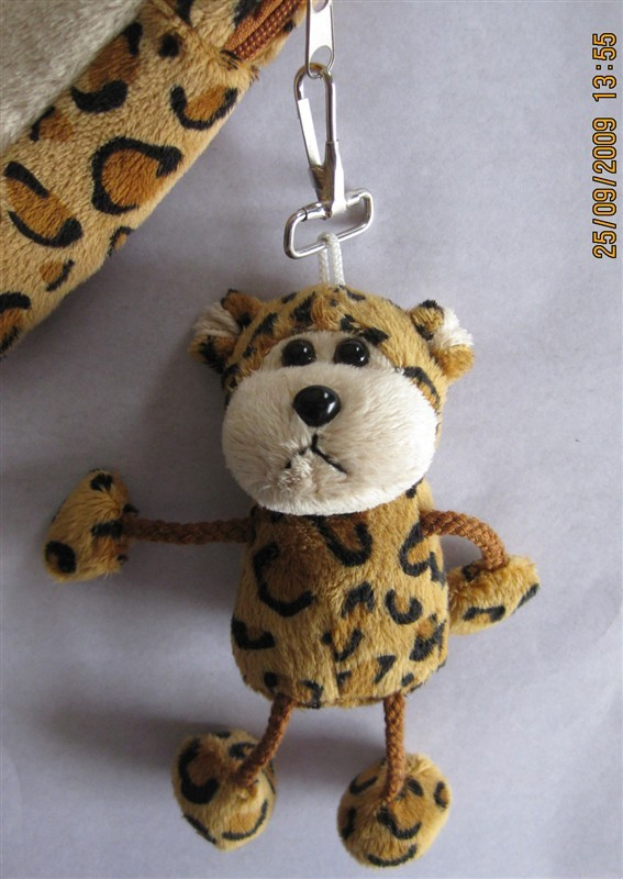 Mini Leopard Plush Keychain
