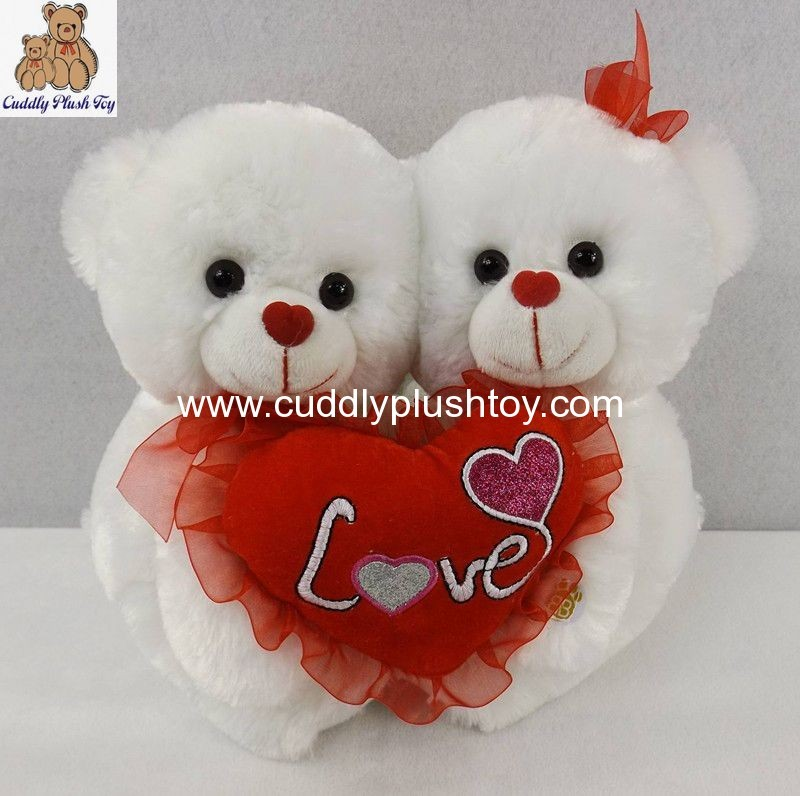 Snowwhite Valentines Twins Bear