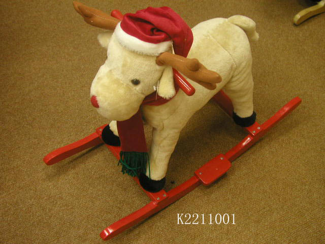 Plush Rocking Horse With Music For Children Ride on Playing