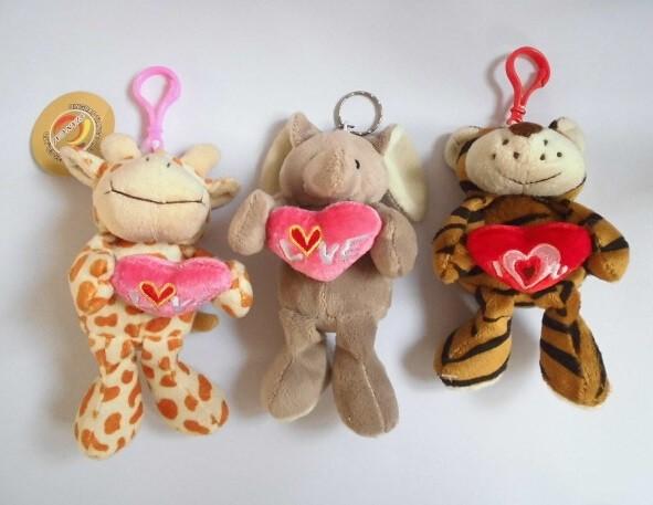 Valentine Plush Keychain Toys Gifts