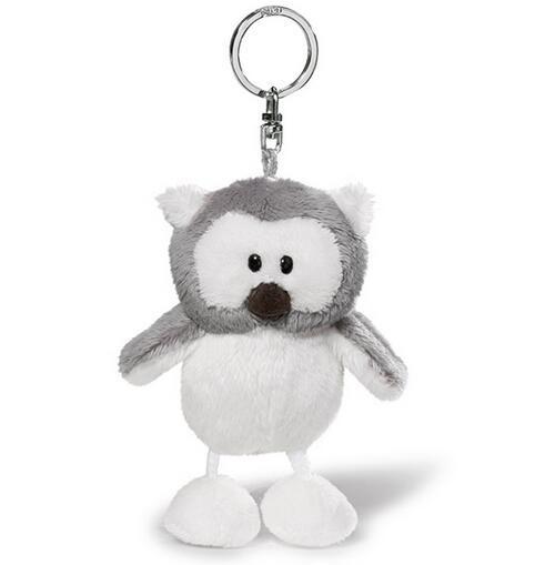 Snowy Owl Plush Keychains