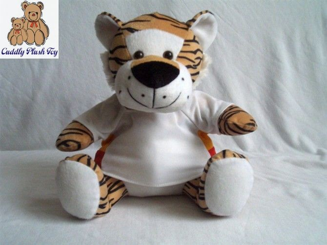 Plush Tiger Toys with T-shirt