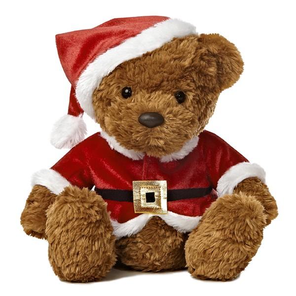 28cm Santa Plush Teddy Bear