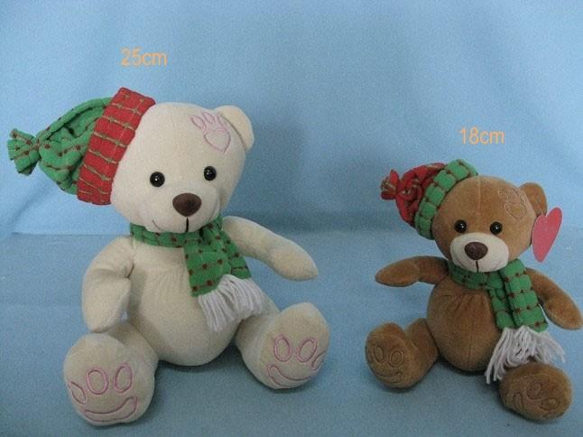 Christmas Stuffed Teddy Bears With Hat