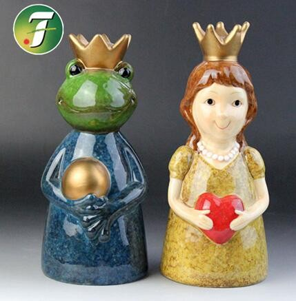 ceramic frog and princess gifts