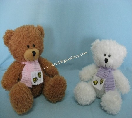 Cuddly Plush Teddy Bears with Scarf