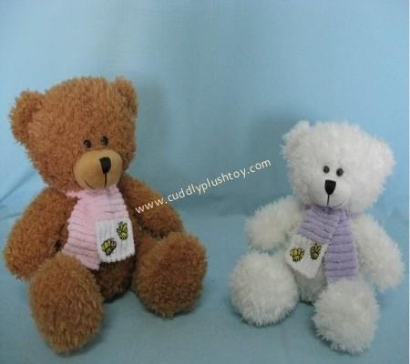 Cuddly Plush Teddy Bears with Scarf