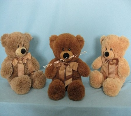 Brown Color Teddy Bear with Ribbon