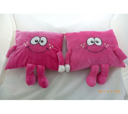 Pink Color Plush Cushion