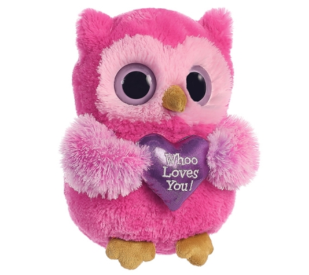 Pink Color Stuffed Animals Plush Owl