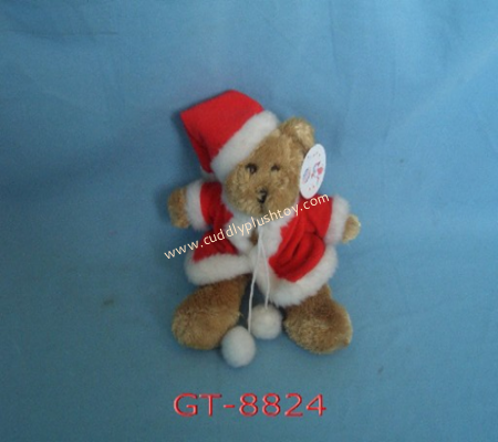 Christmas Teddy Bear with Hat