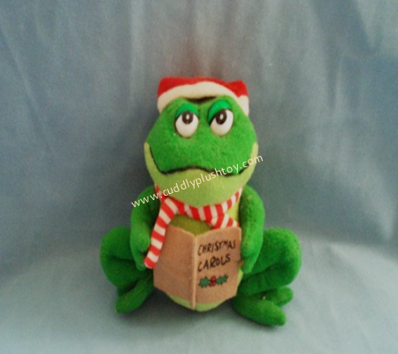 Plush Frog Toy for Christmas