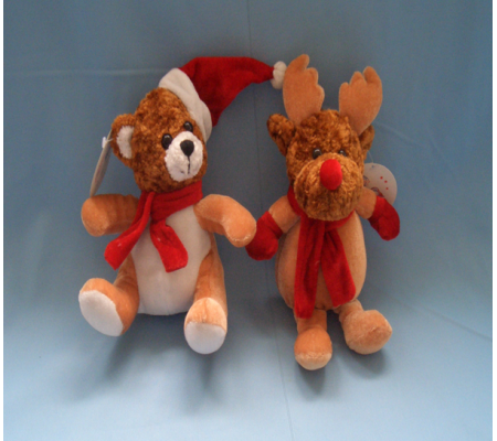 Stuffed Promotional Christmas Bear Toy