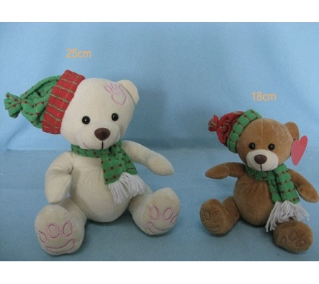 Christmas Stuffed Teddy Bears With Hat