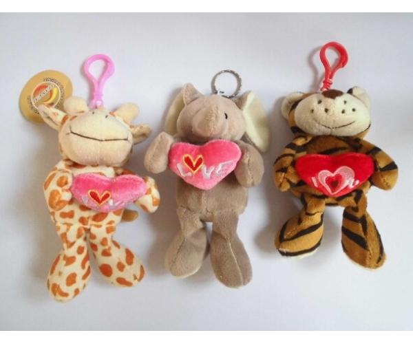 Valentine's Day Plush Keychain Toys