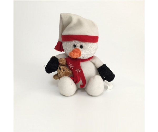 Christmas Snow Bear wearing hat and scarf